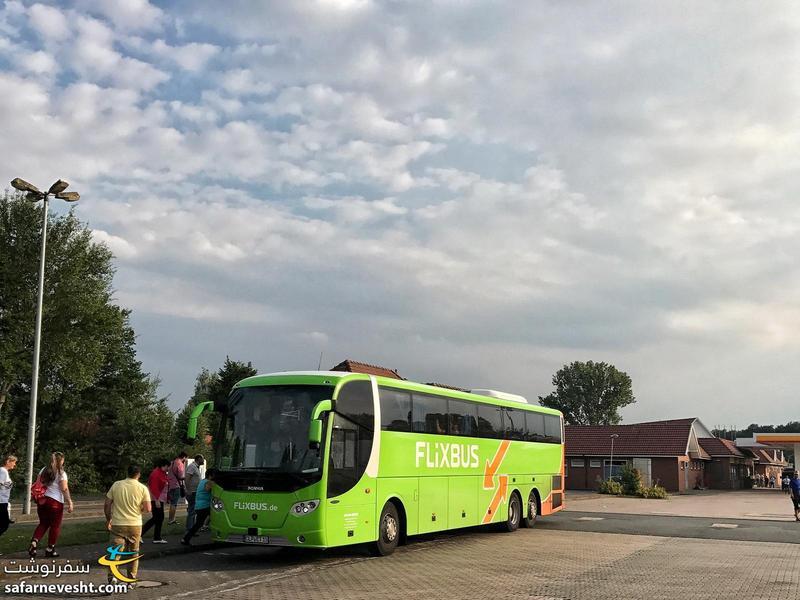 با اتوبوس فلیکس باس در راه دانمارک