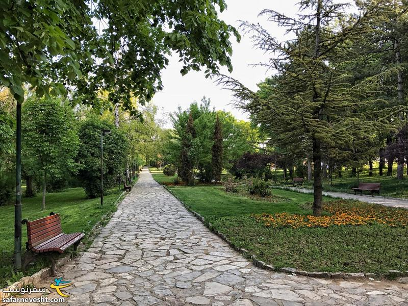 A park in Pristina capital of Kosovo