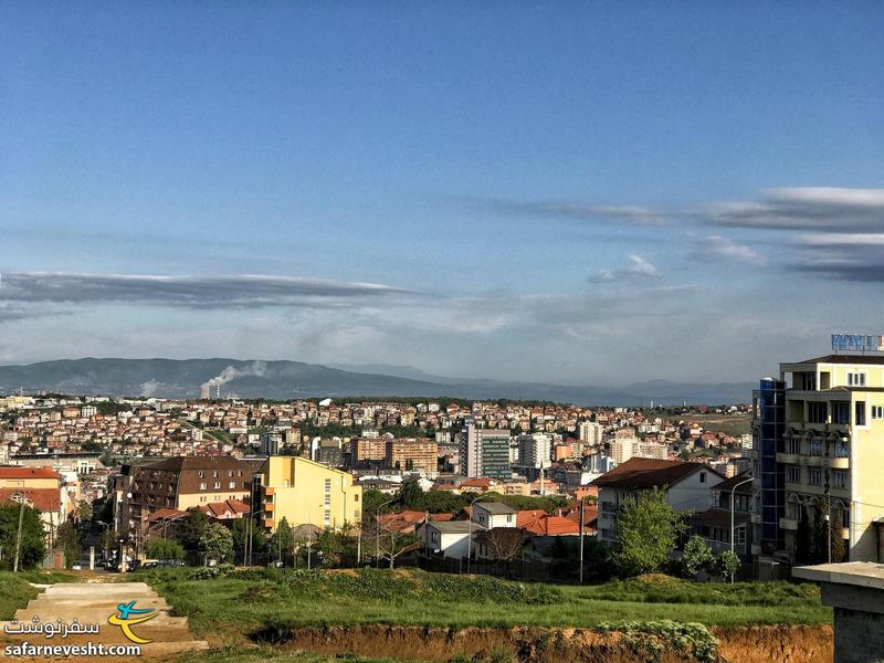 View of Pristina from cemetery on the hill