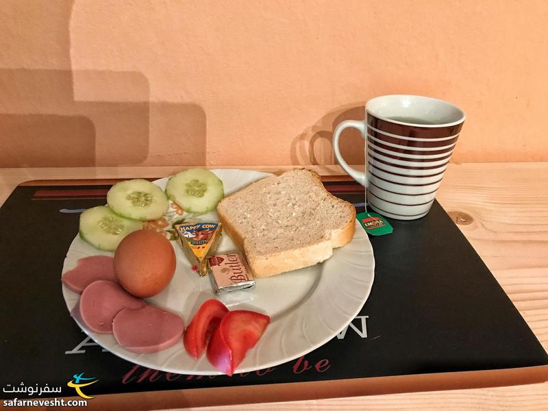 Simple breakfast in ODA hostel