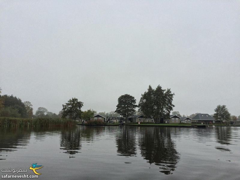 Giethoorn village and its lake
